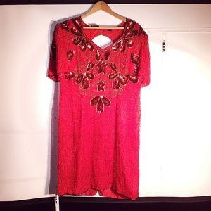 Dresses & Skirts - Beaded silk dress